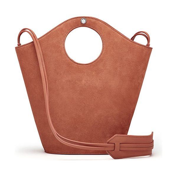 "Elizabeth and James Market Small Suede Shopper Tote Bag in beige - Elizabeth and James ""Market"" shopper bag in cowhide..."
