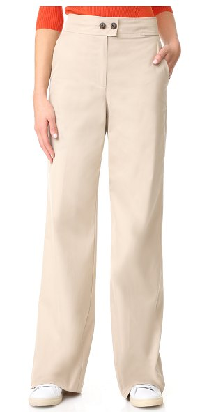 Elizabeth and James milo twill trousers in khaki - High-waisted Elizabeth and James trousers with a...