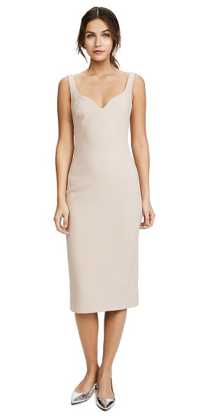 Elizabeth and James nevyn fitted dress in blush - Inset boning structures the sweetheart neckline of this...