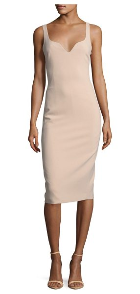 "Elizabeth and James Nevyn Sleeveless Scuba Fitted Bustier Dress in blush - Elizabeth and James ""Nevyn"" neoprene dress. Sweetheart..."