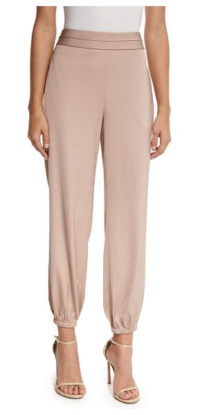 "Elizabeth and James Pascal Tapered Stretch Jersey Pants in champagne - Elizabeth and James ""Pascal"" mid-rise pants in stretch..."