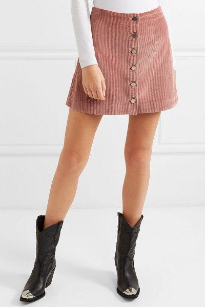 Elizabeth and James prewitt cotton-corduroy mini skirt in pink - For Elizabeth and James' latest offering, Mary-Kate and...