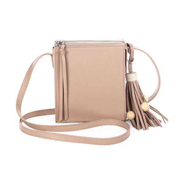 Elizabeth and James sara tassel leather crossbody bag in rose
