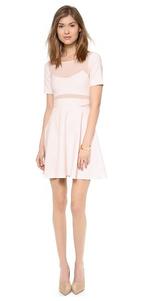 ELIZABETH AND JAMES Selena dress in peony pink - Filmy chiffon lined cutouts detail the bodice of a fit...