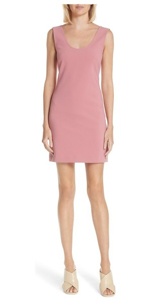 Elizabeth and James shelby tank dress in peach nectar - A low-cut back and crisp princess seams streaming...