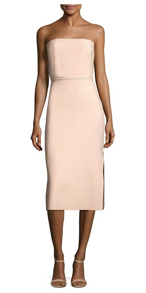 Elizabeth and James sierra strapless dress in biscuit - Elegant strapless dress lends a chic appeal. Strapless....