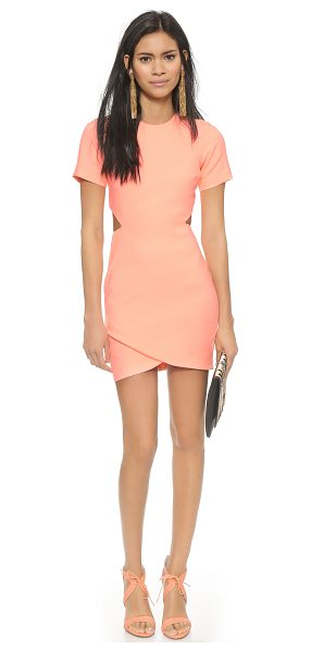 Elizabeth and James Skylyn dress in neon peach - Cutouts make a sultry statement on this bright Elizabeth...