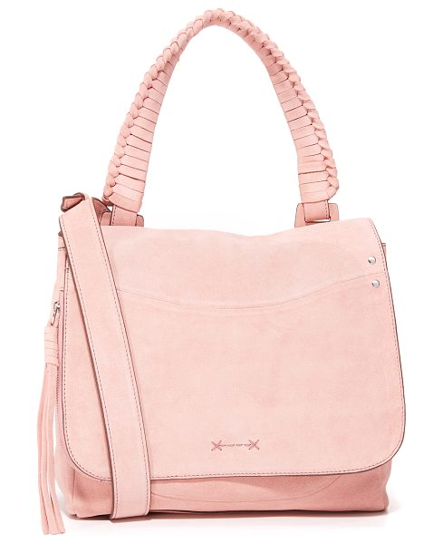 Elizabeth and James trapeze cross body bag in tea rose - A slouchy Elizabeth and James bag in smooth leather. A...