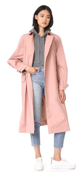 Elizabeth and James weston coat with d ring belt in dahlia/sand - This dusty pink Elizabeth and James trench coat is...