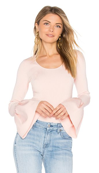 Elizabeth and James Willow Bell Sleeved Top in pink - 77% viscose 21% nylon 2% spandex. Dry clean only....
