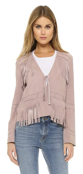 Elizabeth and James Zadeh suede jacket in pink quartz - A lightweight Elizabeth and James jacket composed of...