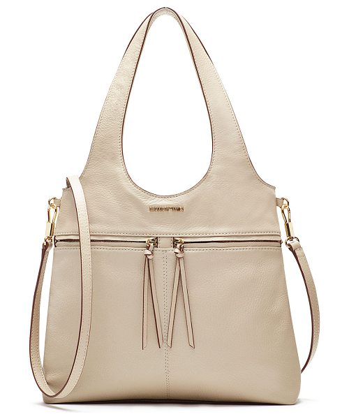 Elizabeth and James Zoe Small Carryall Tote Bag in bone - Elizabeth and James carryall bag in pebbled leather....