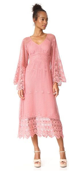 Ella Moon crochet lace dress in mauve glow - Exclusive to Shopbop. This bohemian Ellla Moon dress is...
