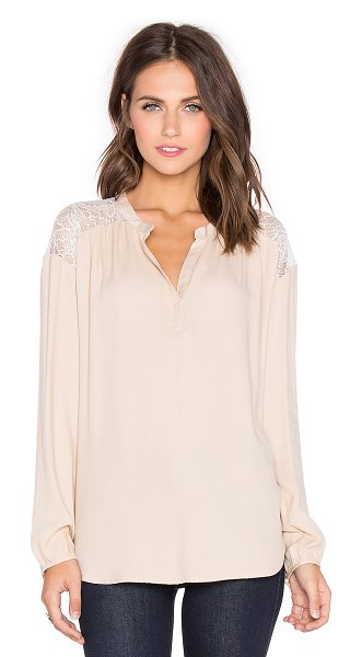 Ella Moss Amara Top in blush - 100% rayonContrast: 100% nylon. Dry clean only. Buttoned...