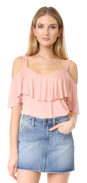 Ella Moss bella top in powder pink - Cutout shoulders lend a modern touch to this draped Ella...