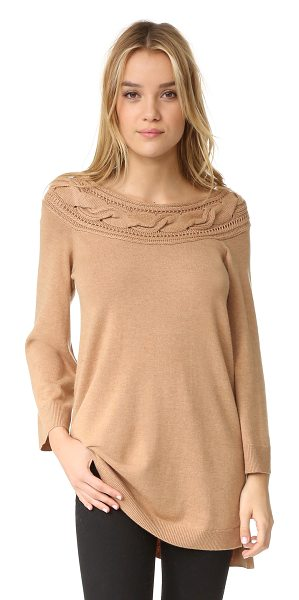 Ella Moss Blinda Sweater in camel - This tunic length Ella Moss sweater is styled with a...