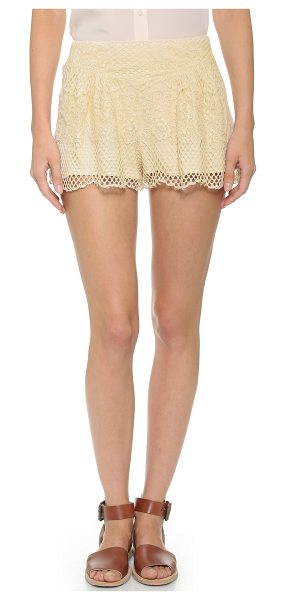 Ella Moss Carole lace shorts in natural - Girly Ella Moss shorts made from delicate lace. Subtle...