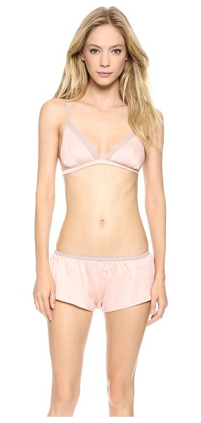 Ella Moss Chloe bralette in evening sand - Chiffon trim provides luxe allure to this Ella Moss...