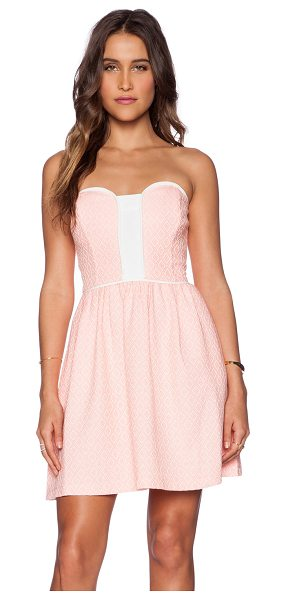 Ella Moss Debbie dress in pink - 60% cotton 40% acrylic. Dry clean only. Bustline to hem...
