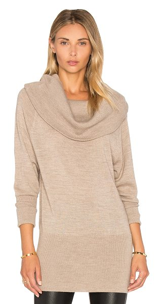 Ella Moss Jodi Sweater in taupe - 50% acrylic 50% wool. Dry clean only. ELLA-WK59. EE6264....
