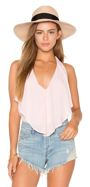 Ella Moss Katella Tank in pink - 100% rayon. Dry clean recommended. Draped bodice...