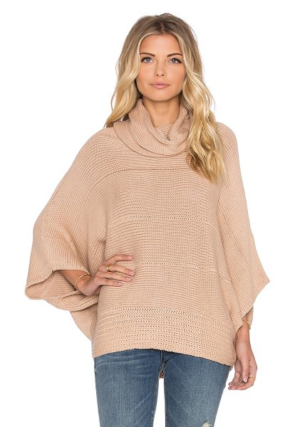 Ella Moss Liya sweater in beige - 70% cotton 20% nylon 10% silk. Hand wash cold....