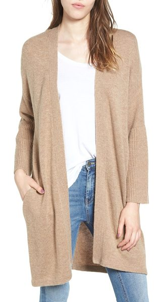 Ella Moss lizete longline cardigan in camel - This longline cardigan in a supersoft mixed knit is a...