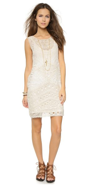 Ella Moss Lupita mini dress in natural - Intricate embroidery lends an eye catching look to this...