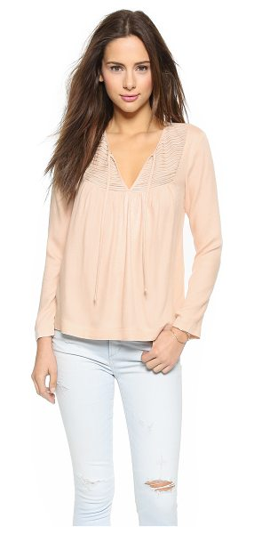 Ella Moss Stella blouse in nude - A front keyhole and zigzag stitching accentuate the...