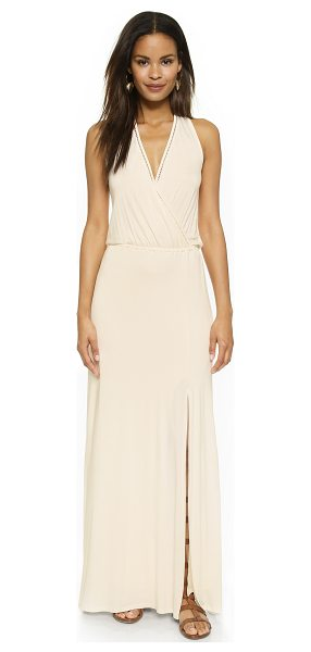 Ella Moss Zamira maxi dress in cream - Delicate crochet trim accents the surplice neckline and...