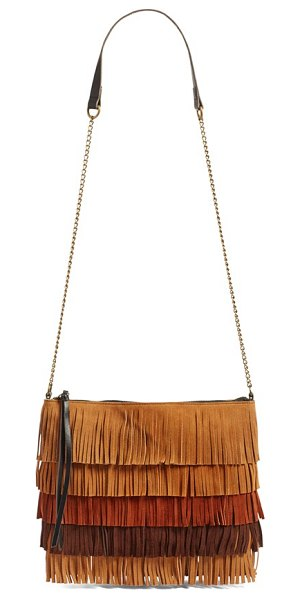 Elle & Jae Gypset 'tulum' suede fringe crossbody bag in neutral multi - Inspired by the rich beauty of ancient Mayan...