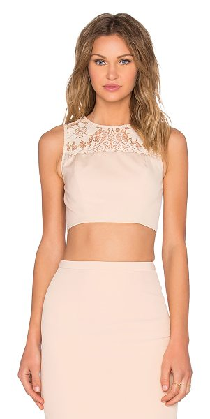 Elle Zeitoune Sheri Crop Top in peach - Self: 100% polyLining: 100% polyamide. Hand wash cold....