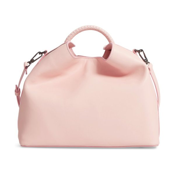 Elleme raisin leather handbag in pink - This sculptural handbag is made from smooth, supple...