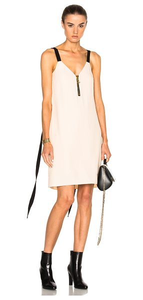 ELLERY Cancan Dress in apricot & black
