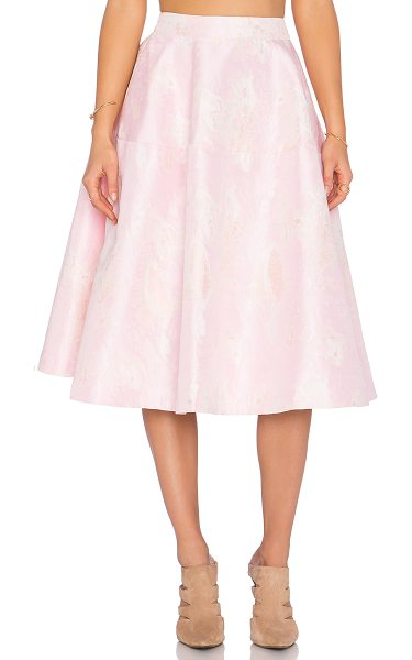 ELLIATT Aura skirt in pink - Self: 64% poly 36% cottonLining: 95% poly 5% spandex....
