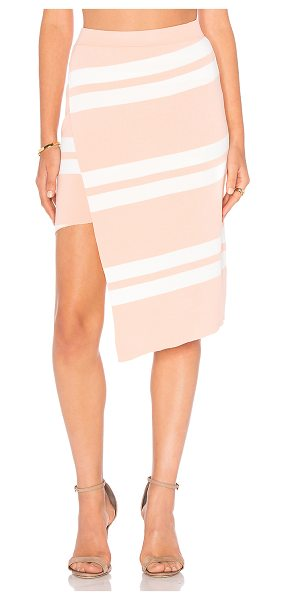 "ELLIATT Hunt Skirt in peach - ""Nylon blend. Elasticized banded waist. Wrap front...."