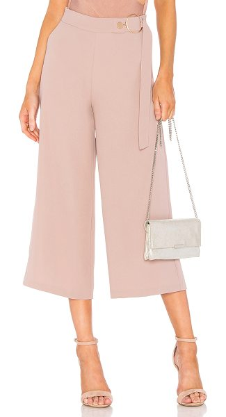 "ELLIATT Ivana Pant in blush - ""Poly blend. Hand wash cold. Waist strap detail with..."