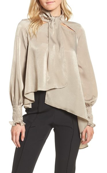 ELLIATT matinee asymmetrical blouse in pumice - Get the look of a screen siren from yesteryear with this...