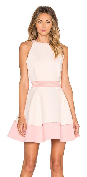 ELLIATT Splendor Dress in blush - Cotton blend. Dry clean only. Unlined. Back cut-out with...