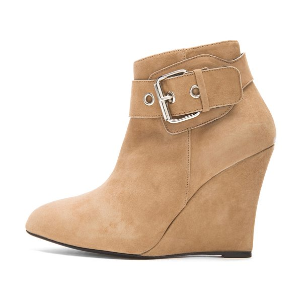 ELYSE WALKER LOS ANGELES Buckle suede wedge booties - Suede upper with leather sole.  Made in Spain.  Approx...
