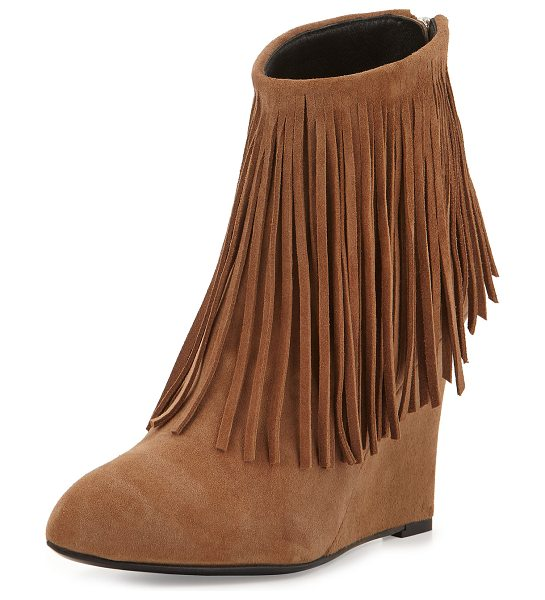 "ELYSE WALKER LOS ANGELES Fringed Suede Ankle Boot - elysewalker los angeles suede ankle boot. 3.5"" covered..."