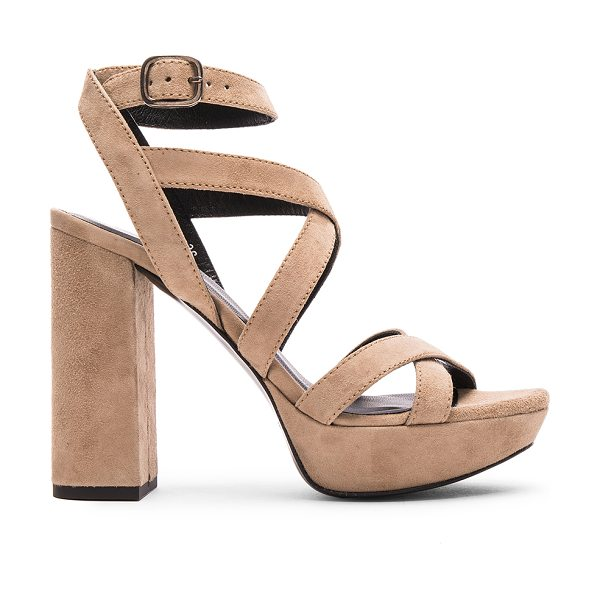 Elyse Walker Los Angeles Hedy Suede Heels in neutrals - Suede upper with leather sole.  Made in Spain.  Approx...