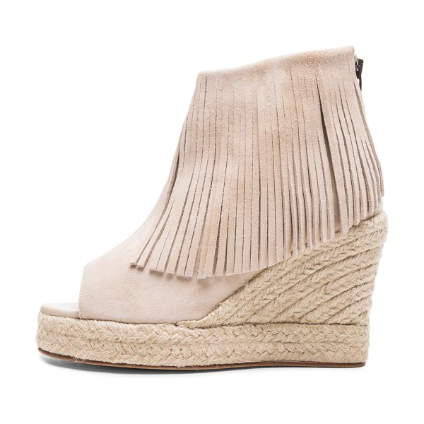 Elyse Walker Los Angeles Lindsey suede fringe espadrille wedges in neutrals - Suede upper with leather sole.  Made in Spain.  Approx...