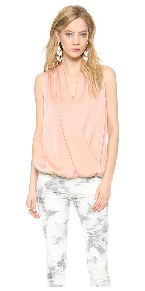 Emerson Thorpe Eden draped sleeveless top in blush - An elastic inset hem adds flattering volume to a breezy...