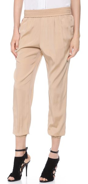 Emerson Thorpe Emilia pants in nude - Silk Emerson Thorpe pants have casual appeal with a...