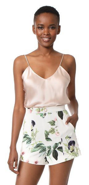 Emerson Thorpe fiora silk cami top in blush - A simple Emerson Thorpe tank in luxe silk charmeuse....