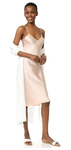 Emerson Thorpe hallie slip dress in blush - NOTE: Runs true to size. A luxurious satin Emerson...