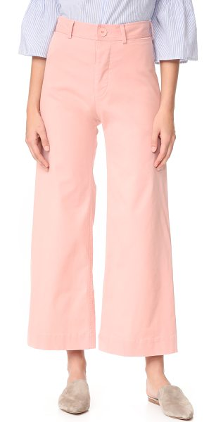 Emerson Thorpe ryan high waisted wide leg pants in pink - Exclusive to Shopbop. Flat-front Emerson Thorpe trousers...