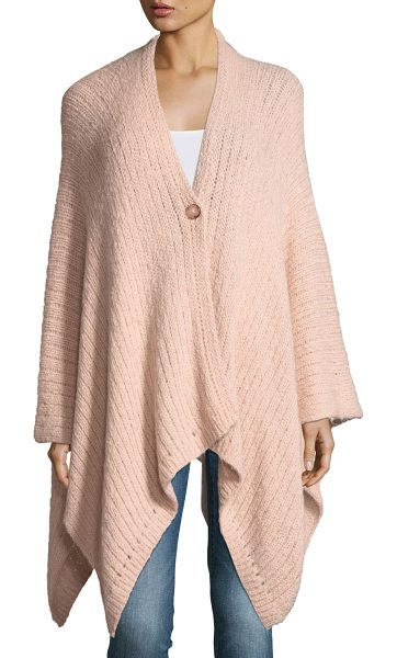 Emilime Sola Knit Poncho in light pink