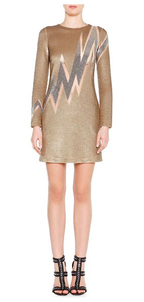 Emilio Pucci Beaded Lightning Bolt Mini Dress in gold - Emilio Pucci metallic beaded dress. Lightning bolt-motif...